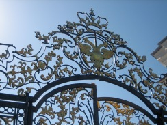 The gold gates of Catherine's Palace