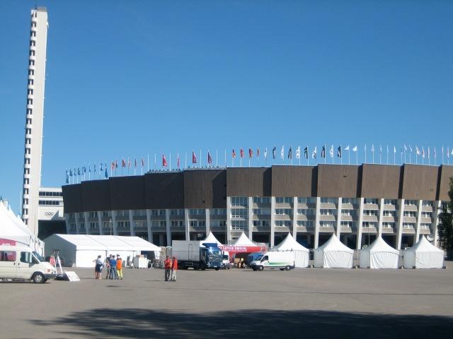 The Helsinki Olympic Stadium.