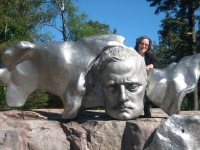 The bust of Jean Sibelius