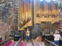 Inside the church and it's organ.
