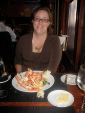 I'm ready to tuck into the Alaskan Snow Crab.