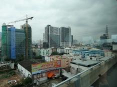Driving into Bangkok