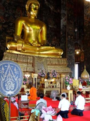 Buddhist ceremony taking place