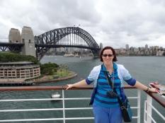Sydney Harbour bridge in the background