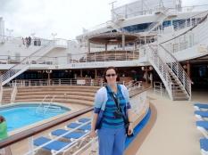 Mel on the pool deck