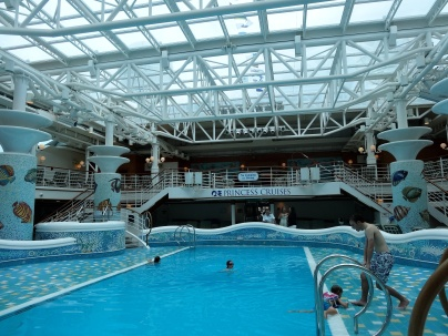 Calypso Reef Pool with the retractable roof